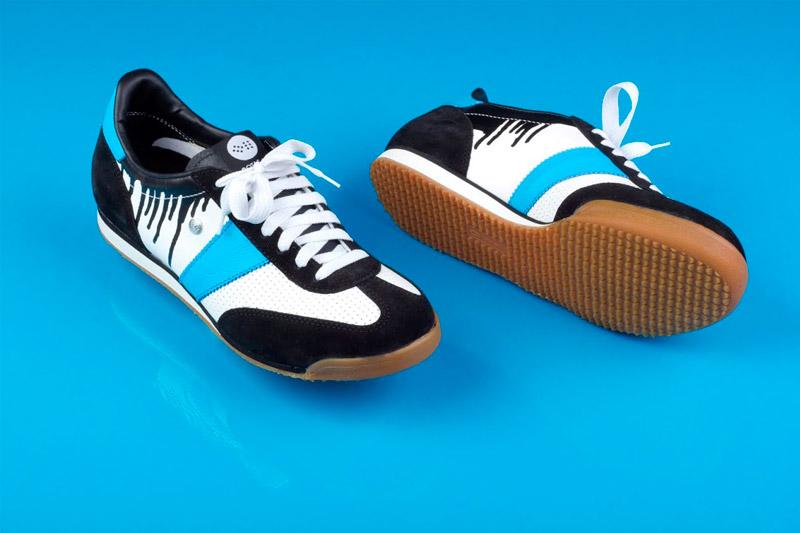 Botas 66 — Classic — Infamous — černo-bílé retro tenisky, semišové boty, dámské a pánské