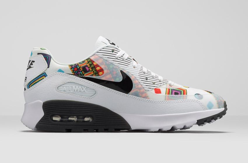 Nike Air Max 90 Liberty Merlin — dámské bílé boty se vzorem, sneakers, tenisky