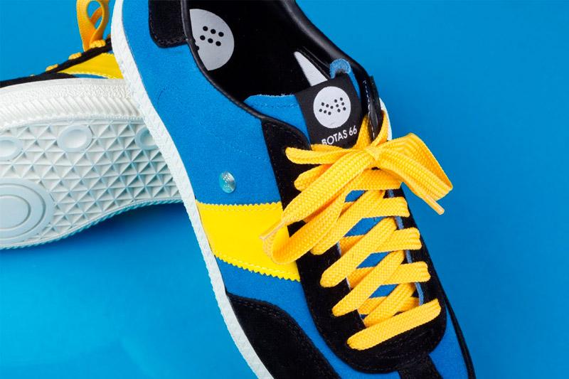Botas 66 — Urban — Molotov Night — semišové boty, černo-modré retro tenisky, bílá podrážka, dámské a pánské