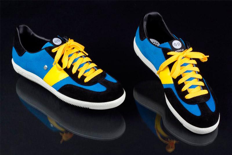 Botas 66 — Urban — Molotov Night — retro tenisky, černo-bílé semišové boty, bílá podrážka, dámské a pánské