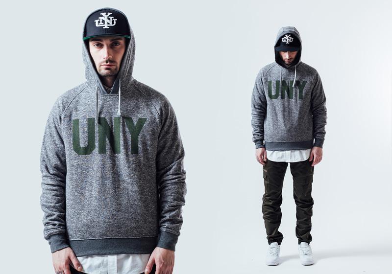 Unyforme — mikina s kapucí, šedá, pánská, kalhoty kapsáče — pánské trendy oblečení – jaro 2015