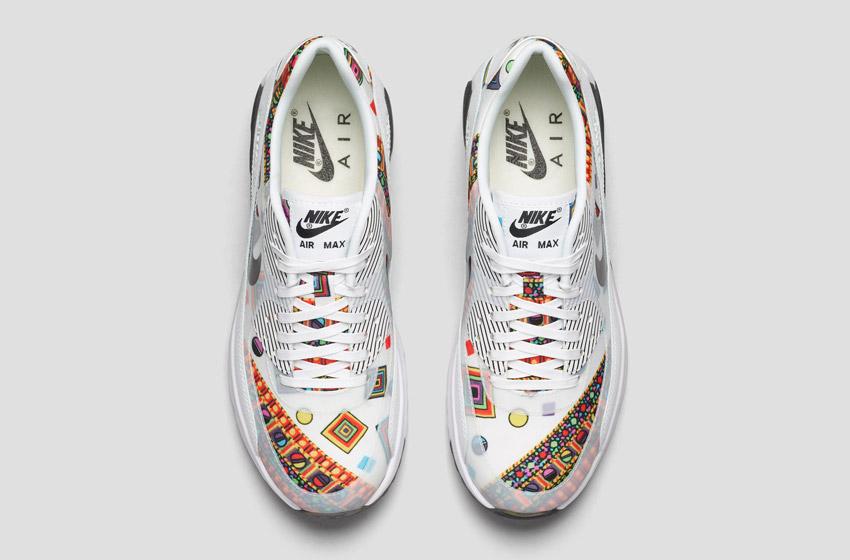 Nike Air Max 90 Liberty Merlin — dámské bílé boty se vzorem, sneakers, tenisky, horní pohled