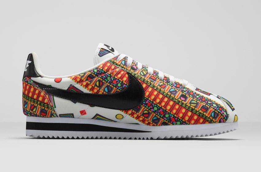 Nike Classic Cortez Liberty Merlin — dámské bílé boty se vzorem, sneakers, tenisky