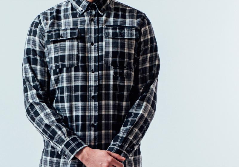 Unyforme — kostkovaná (károvaná) pánská košile, dlouhý rukáv — pánské trendy oblečení – jaro 2015