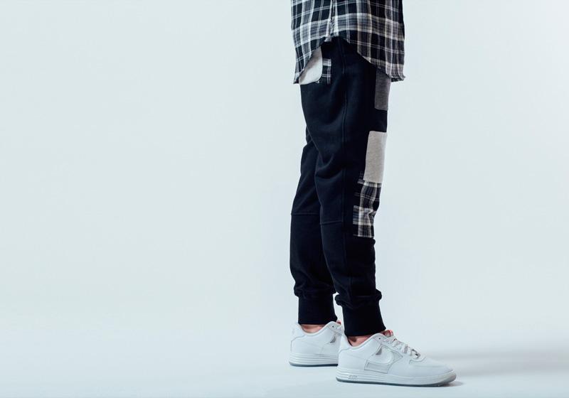 Unyforme — pánské tepláky s náplety, černé — pánské trendy oblečení – jaro 2015