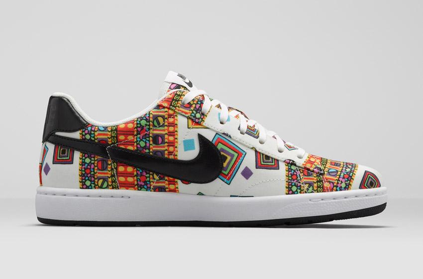 Nike Tennis Classic Ultra Leather Liberty Merlin — dámské bílé boty se vzorem, sneakers, tenisky