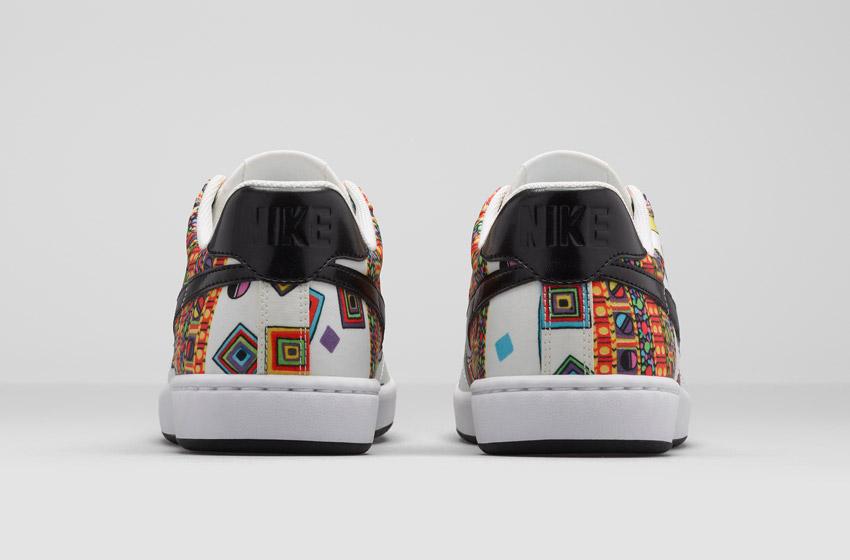 Nike Tennis Classic Ultra Leather Liberty Merlin — dámské bílé boty se vzorem, sneakers, tenisky, zadní pohled
