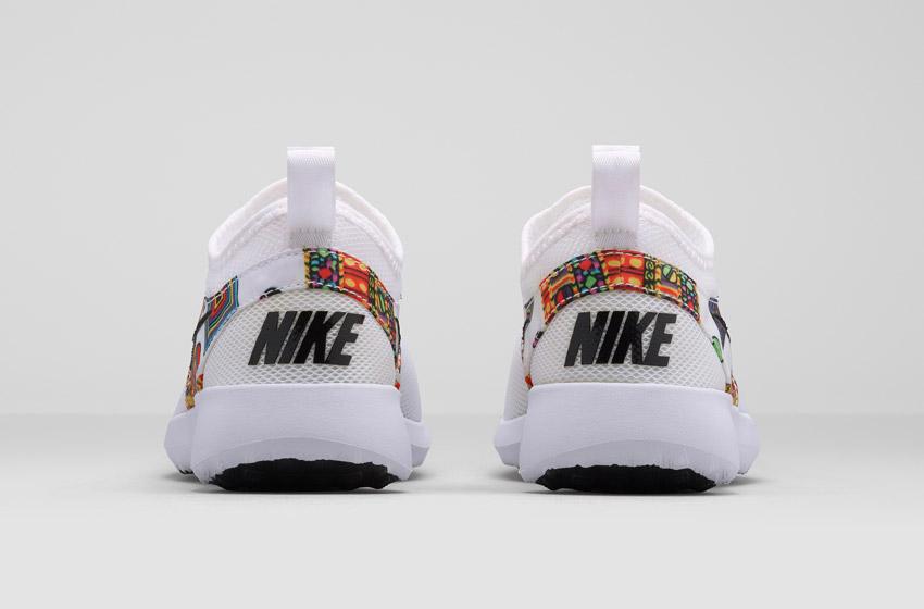 Nike Zenji Liberty Merlin — dámské bílé boty se vzorem, sneakers, tenisky, zadní pohled