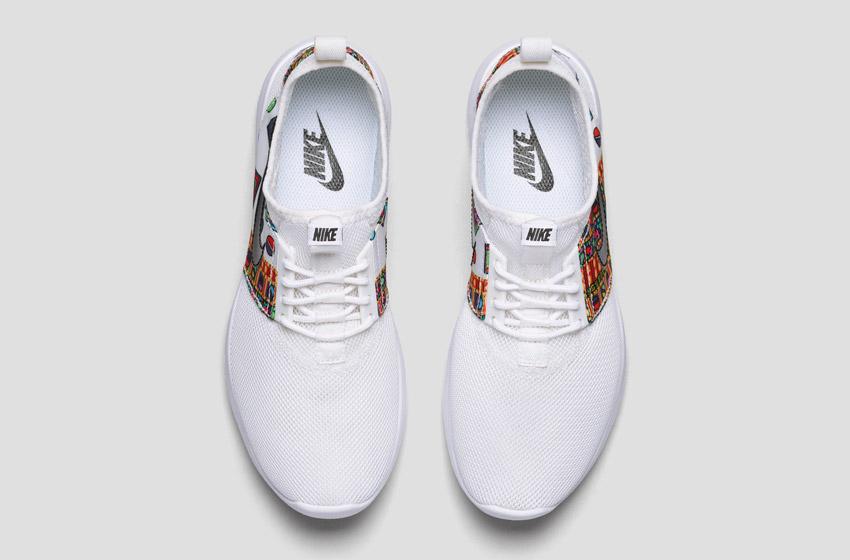 Nike Zenji Liberty Merlin — dámské bílé boty se vzorem, sneakers, tenisky, horní pohled