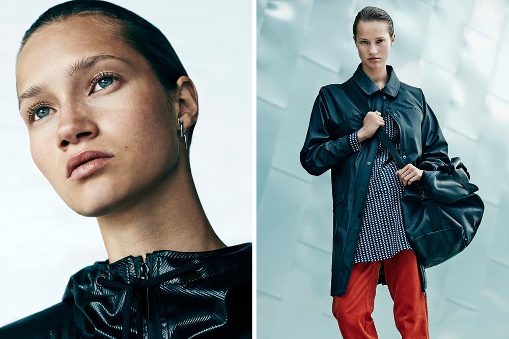 Rains — pršiplášť, nepromokavá dlouhá bunda, kabát, — dámský raincoat, tmavě zelený