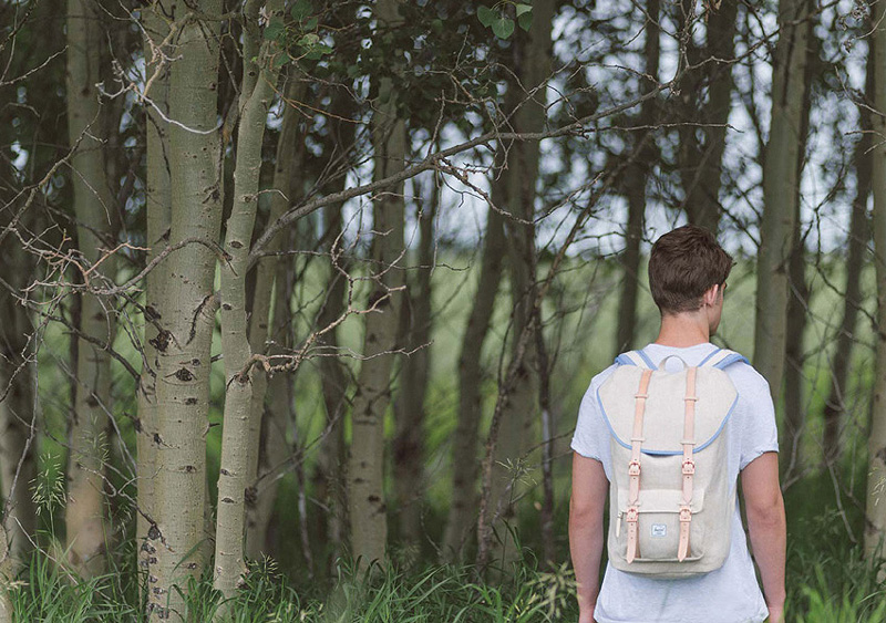 Herschel Supply — batoh na záda Little America Backpack, bílý, smetanová barva — lookbook léto/summer 2015