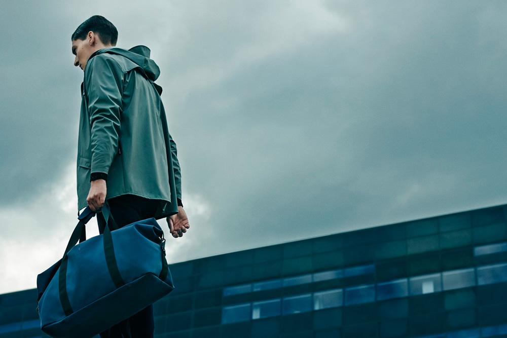 Rains — pršiplášť, nepromokavá bunda s kapucí, pánská, zelená — raincoat, jacket