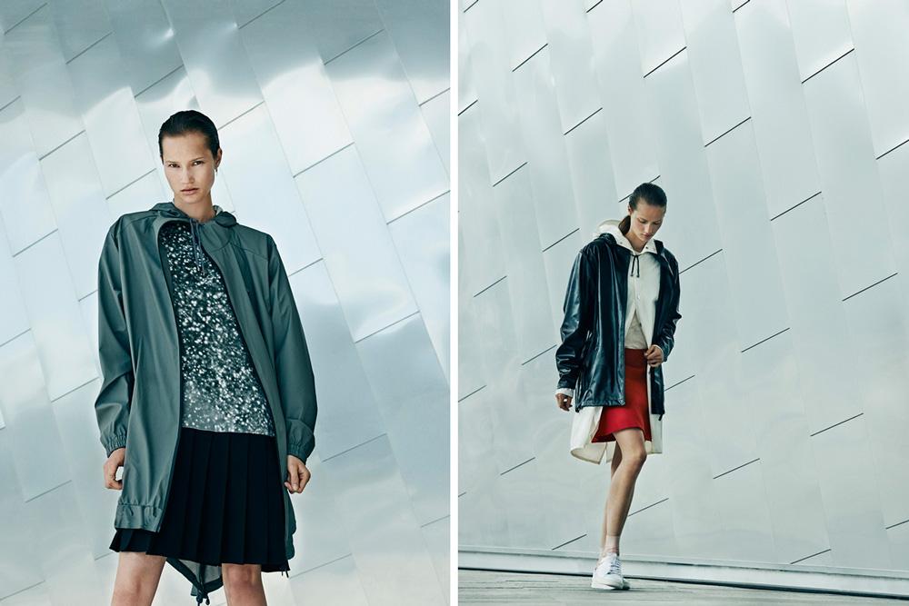 Rains — pršiplášťe, nepromokavé dlouhé bundy s kapucí, dámské — raincoat, jacket