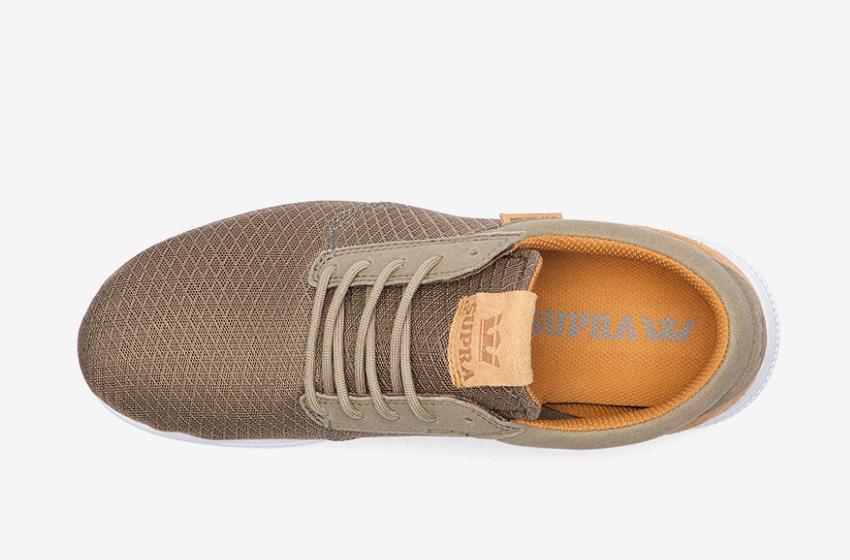 Boty Supra Hammer Run – běžecké, tenisky, dámské, pánské, bledě zelené, hnědé, sneakers, horní pohled