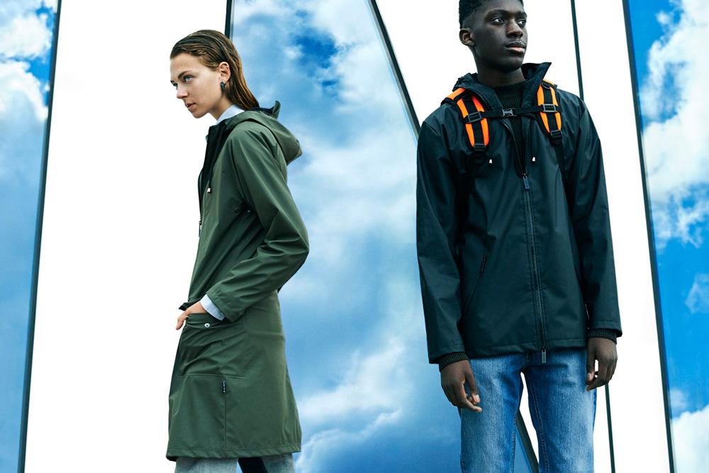 Rains — pršiplášť, nepromokavá dlouhá bunda, pánská, dámská — raincoat, jacket
