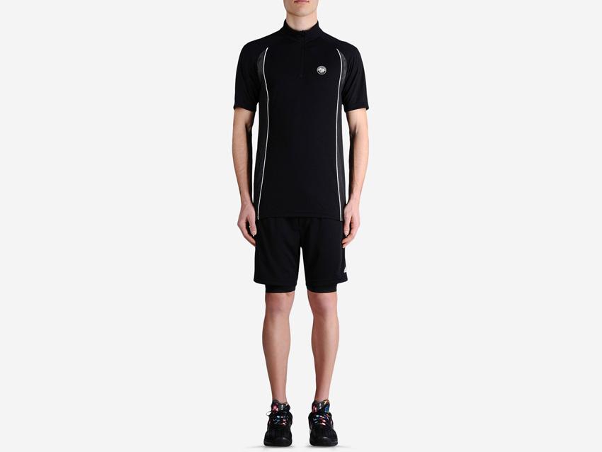 adidas – Roland Garros Y-3 – černé pánské tenisové šortky, černé tenisové tričko, sportovní oblečení