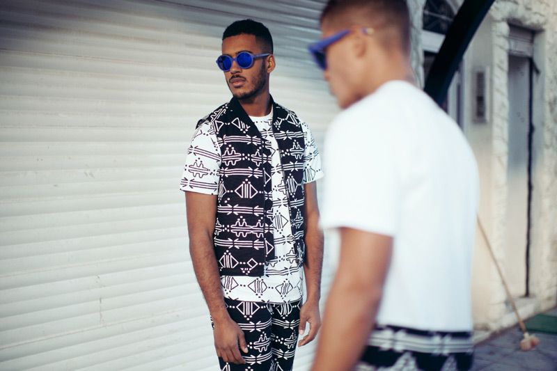 Daily Paper – pánské tričko s marockými symboly, pánská vesta s marockými symboly – trendy oblečení jaro/léto 2015
