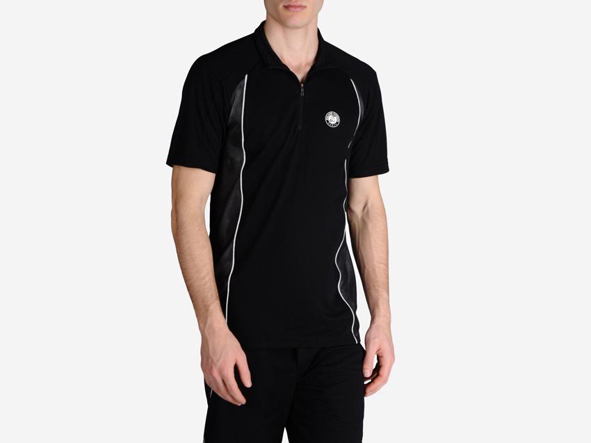 adidas – Roland Garros Y-3 – černé pánské sportovní tričko s límečkem, tenisové tričko