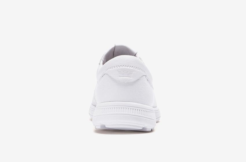 Boty Supra Hammer Run – běžecké tenisky, dámské, pánské, čistě bílé, sneakers, zadní pohled