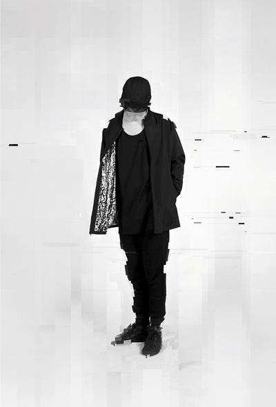 Trinitas – Volume IX – pánská dlouhá černá bunda na zip