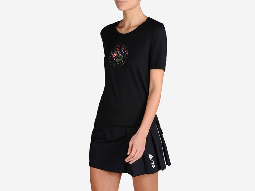 adidas – Roland Garros Y-3 – černá sportovní sukně, černé sportovní dámské tričko