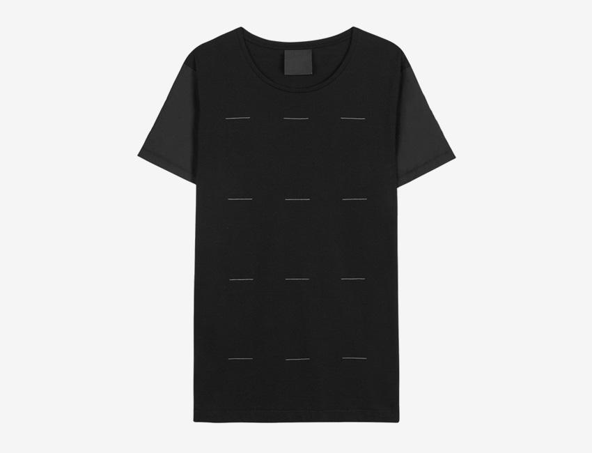 Trinitas – Volume IX – pánské dlouhé černé tričko, minimal, minimalismus