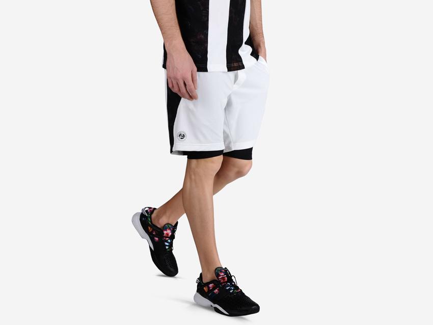adidas – Roland Garros Y-3 – sportovní bílé šrotky, tenisové šortky, pánské