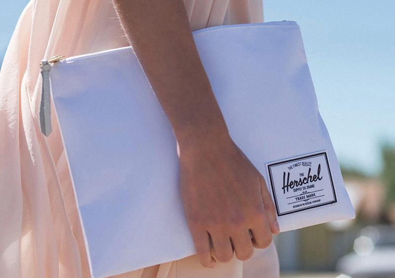 Herschel Supply — dámské psaníčko Network Pouch I L, bílé — lookbook léto/summer 2015
