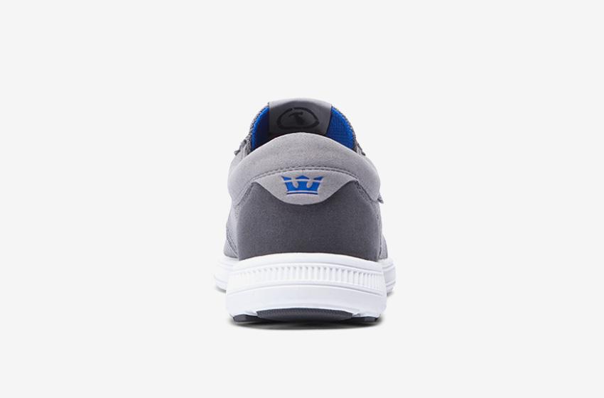 Boty Supra Hammer Run – běžecké tenisky, dámské, pánské, šedé, sneakers, zadní pohled
