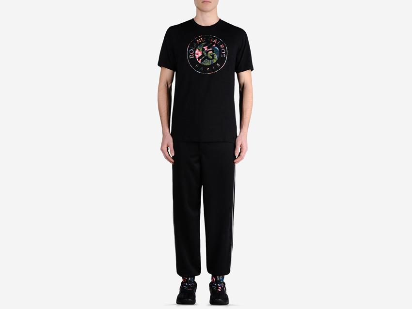 adidas – Roland Garros Y-3 – pánské černé tričko, černé tepláky, sportovní tenisové oblečení