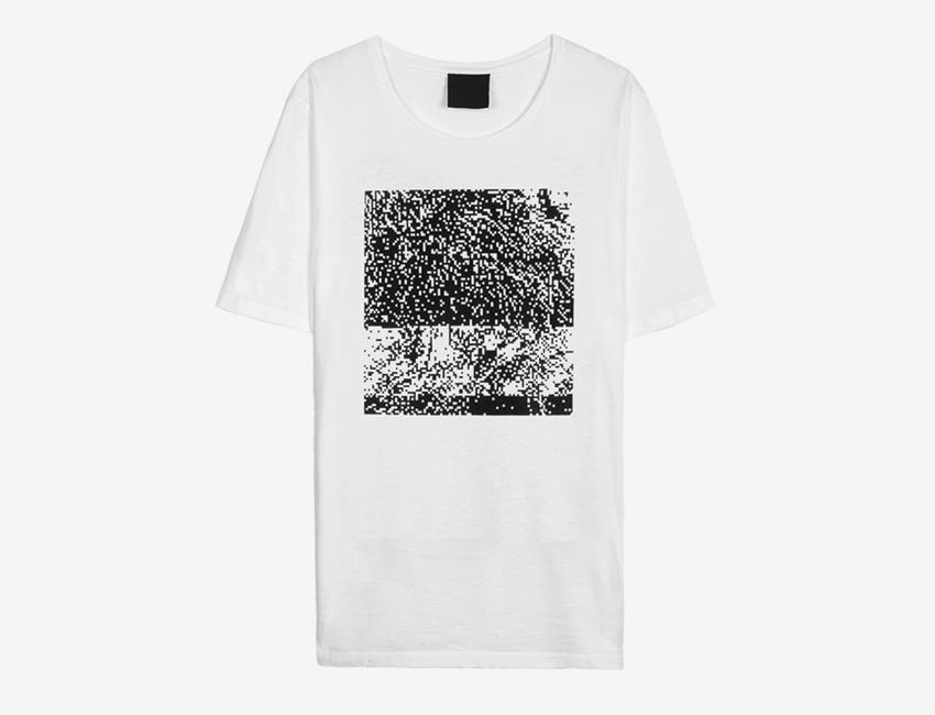 Trinitas – Volume IX – pánské bílé dlouhé tričko s potiskem, bitmapa