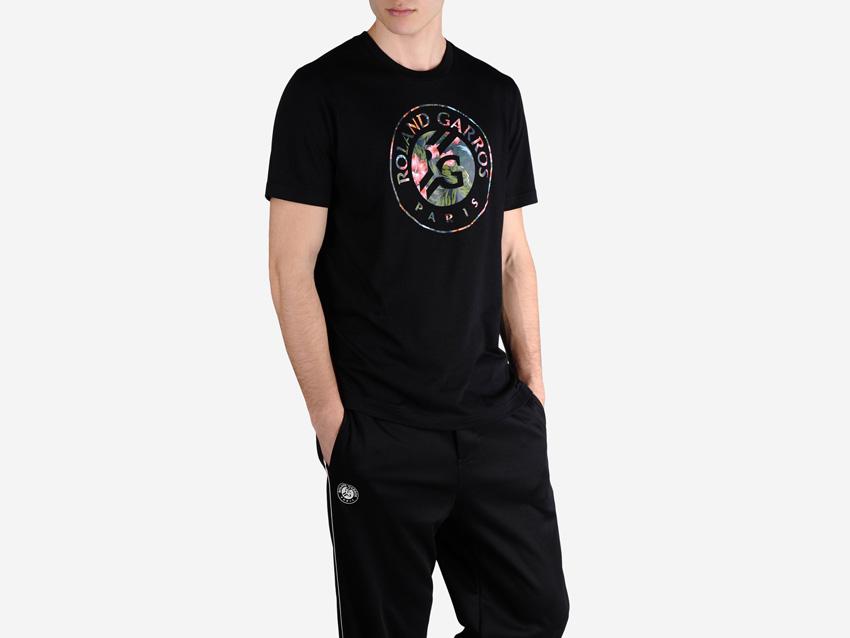 adidas – Roland Garros Y-3 – pánské černé tričko, sportovní tenisové oblečení