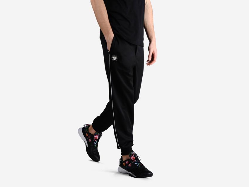 adidas – Roland Garros Y-3 – pánské černé tepláky, sportovní tenisové oblečení