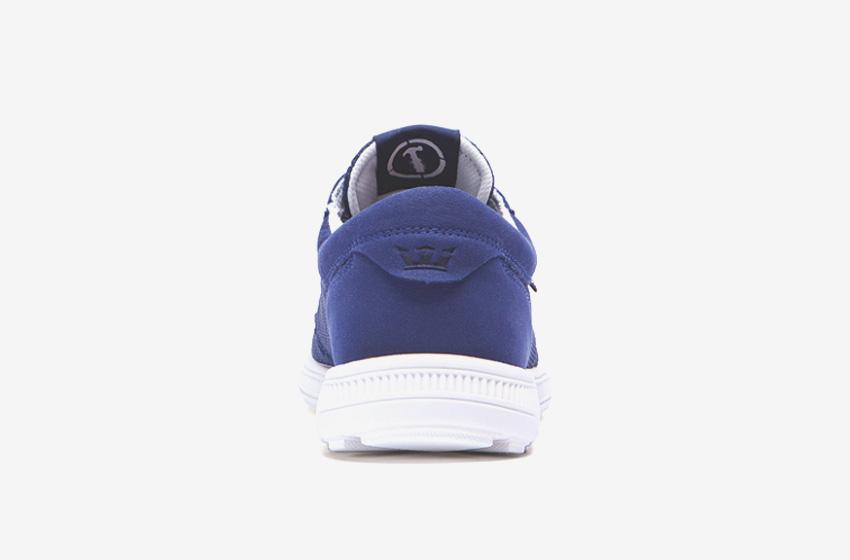 Boty Supra Hammer Run – běžecké tenisky, dámské, pánské, modré, sneakers, zadní pohled