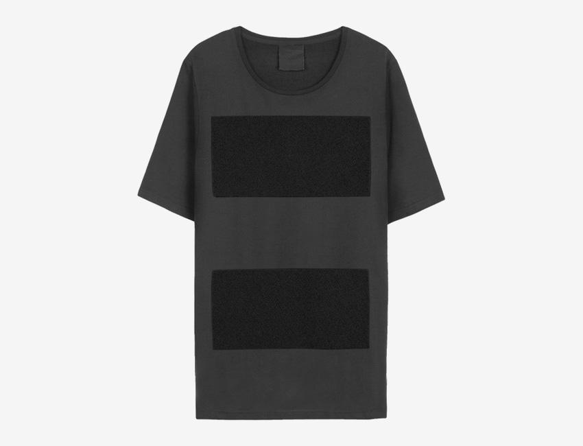 Trinitas – Volume IX – pánské černé dlouhé tričko s potiskem, minimal, minimalismus