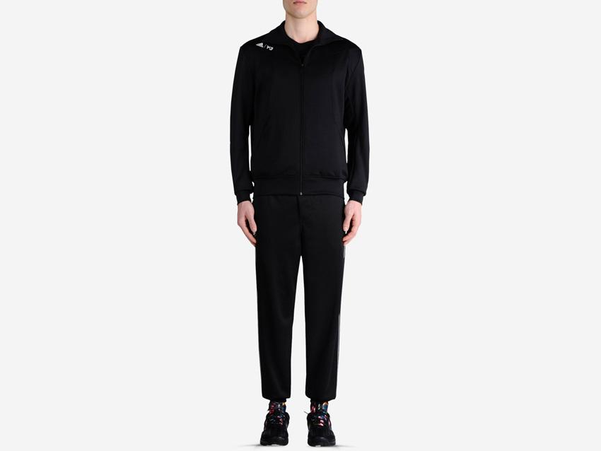 adidas – Roland Garros Y-3 – pánská černá sportovní bunda na zip, černé tepláky