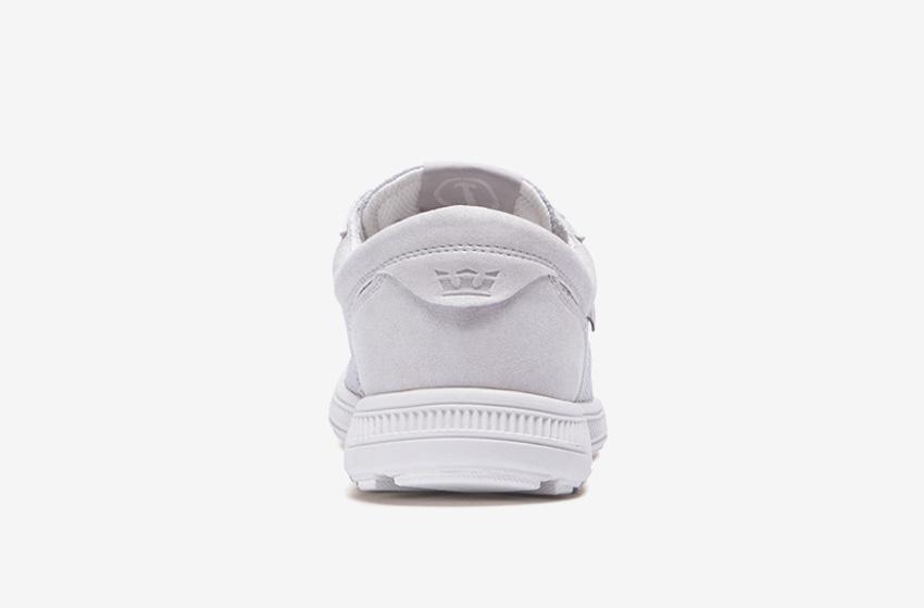 Boty Supra Hammer Run – běžecké tenisky, dámské, pánské, světlé šedé, bílé, sneakers, zadní pohled