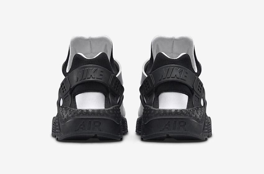 Nike Air Huarache – šedé/černé, zadní pohled