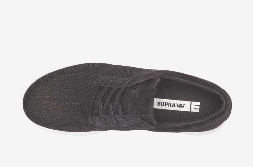 Boty Supra Hammer Run – běžecké tenisky, dámské, pánské, černé, sneakers, horní pohled