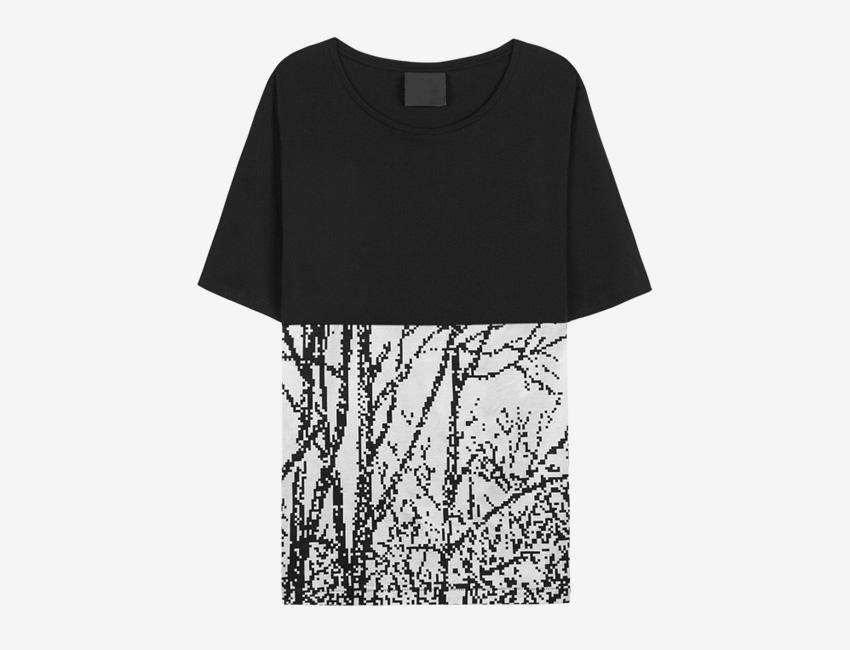 Trinitas – Volume IX – pánské černo-bílé tričko s potiskem, bitmapa