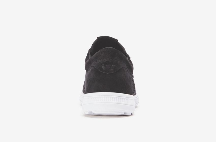 Boty Supra Hammer Run – běžecké tenisky, dámské, pánské, černé, sneakers, zadní pohled