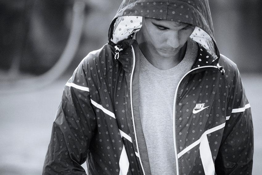 Nike Tech Hyperfuse Windrunner – pánská sportovní bunda s kapucí, Rafael Nadal – lookbook 2015