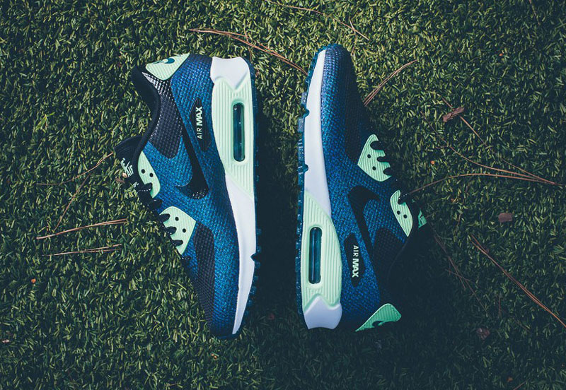 Nike Air Max 90 Hyperfuse WMNS WC QS – dámské boty, modré tenisky, sneakers, World Cup