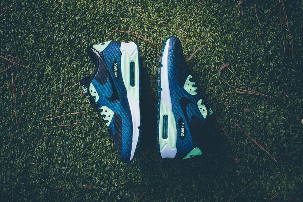 Nike Air Max 90 Hyperfuse WMNS WC QS – dámské boty, modré tenisky, sneakers, World Cup, footwear