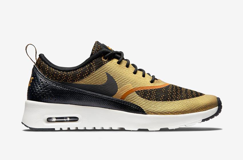 Nike Air Max Thea Jacquard – dámské boty, dámské tenisky – zlaté, bronzové, černé – běžecké sneakers