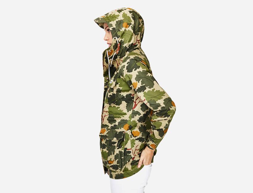 Penfield – dámská jarní/letní bunda s kapucí, zelená, vzor listí – dámské oblečení – jaro/léto 2015