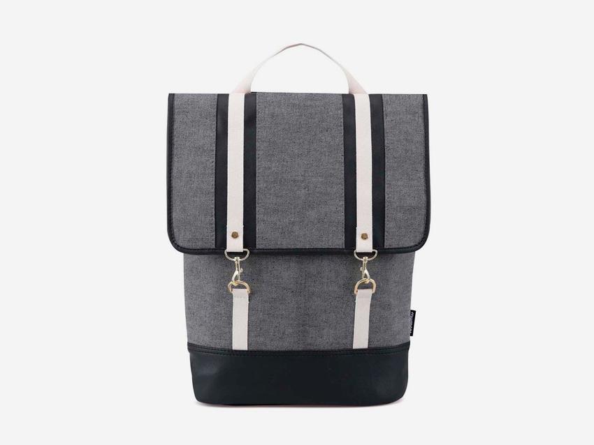 Plátěný batoh Zoot & Mumray – šedý, bavlněný batoh na záda