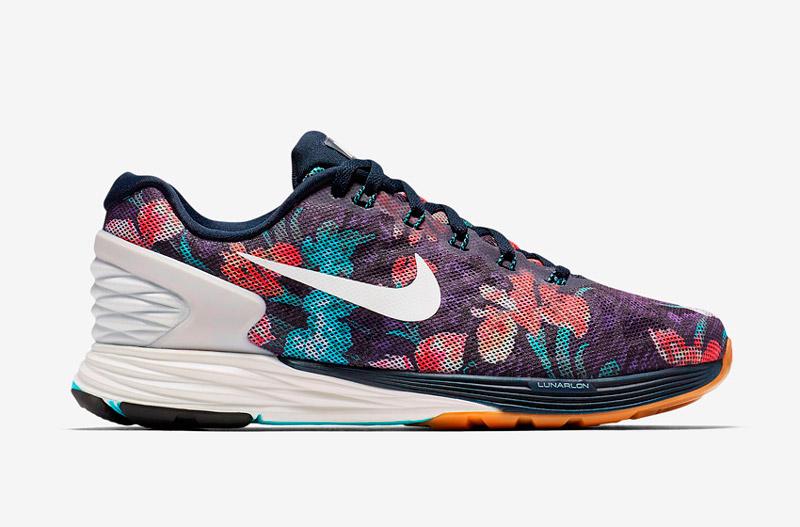Nike LunarGlide 6 Photosynthesis – sportovní boty, běžecké tenisky, dámské, pánské, barevné, rostlinný vzor, floral