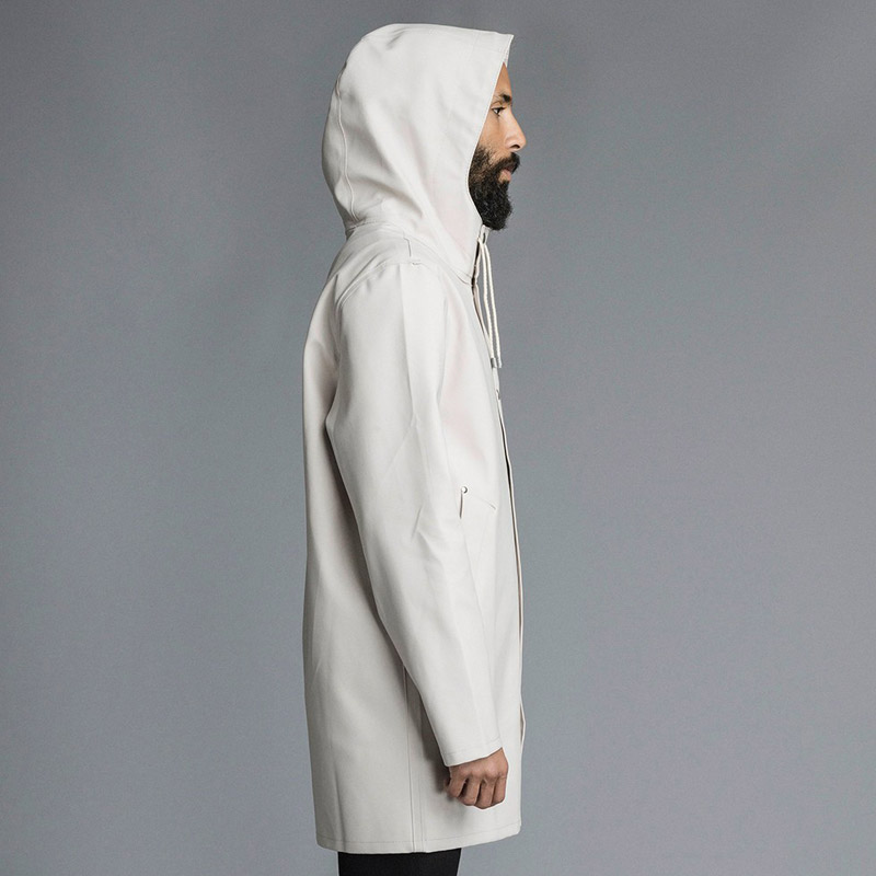 Stutterheim – plášť do deště s kapucí – pánský, dámský – světle béžový