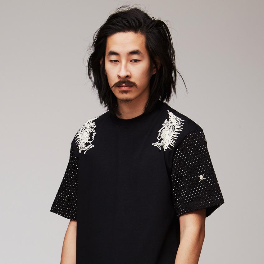 VV — Villainous Visard – pánské tričko s potiskem, černé – Vangelis
